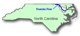 Striped Bass Fishing Access Areas on Roanoke River, NC