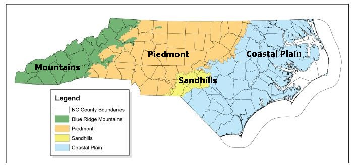 Map NC Ecoregion Boundaries