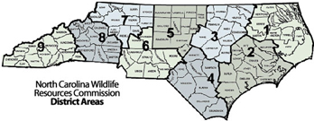 NC districts map